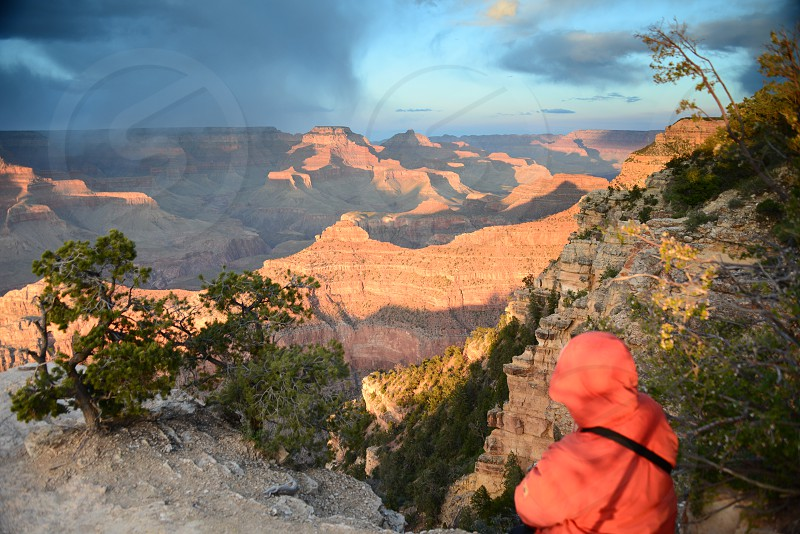 Overlooking an area of the Grand Canyon photo