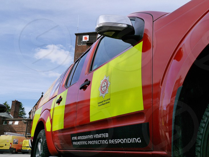 Side of North Wales Fire Service 4x4 photo