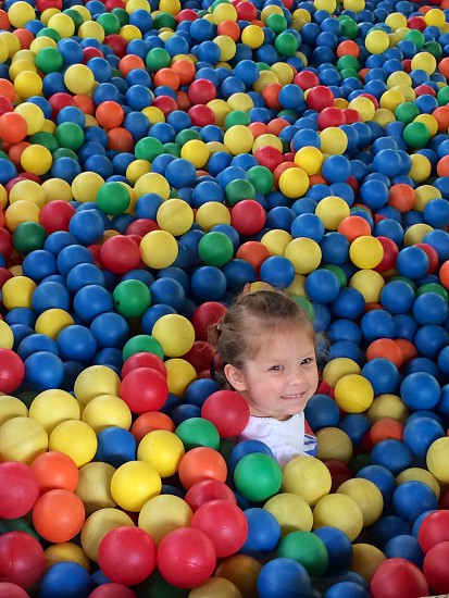 Daughter in the ball pit.  photo