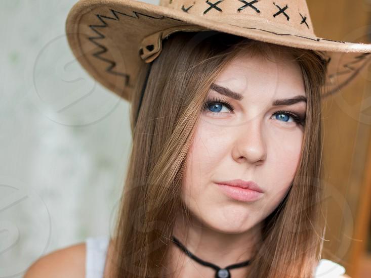Girl in hat photo