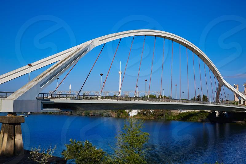 Seville Puente de la Barqueta bridge Sevilla Andalusia spain photo
