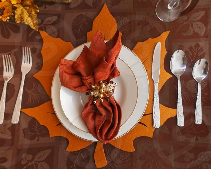 Table Setting autumn Thanksgiving photo
