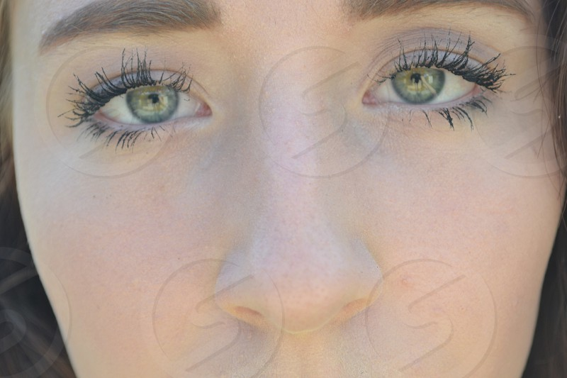 person's left eye photo