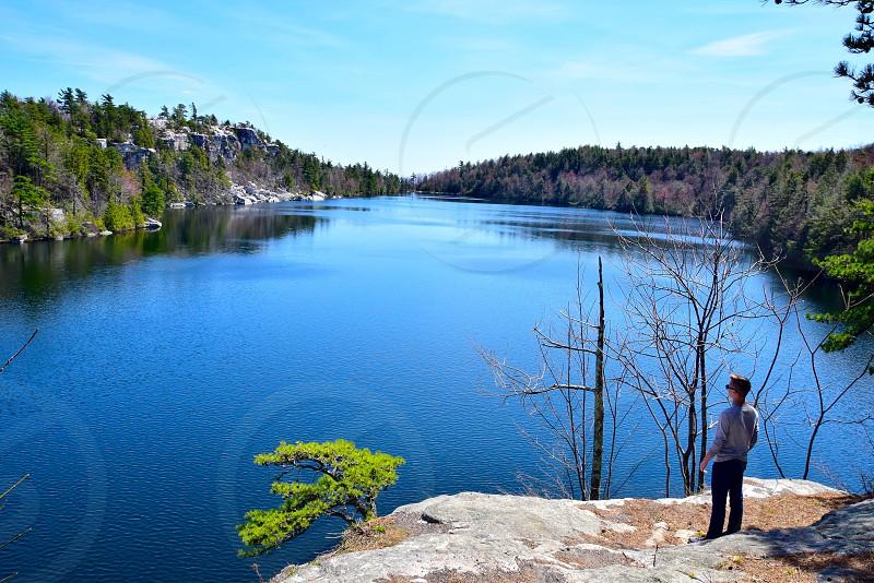 Nature Lake Quiet Lakeside Contemplation photo