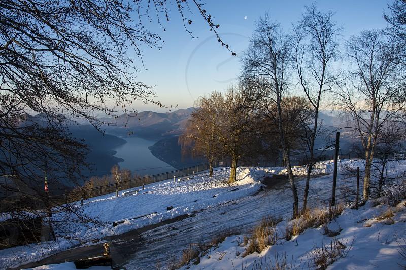 early morning 15 februar 2017 Sighignola Italy photo
