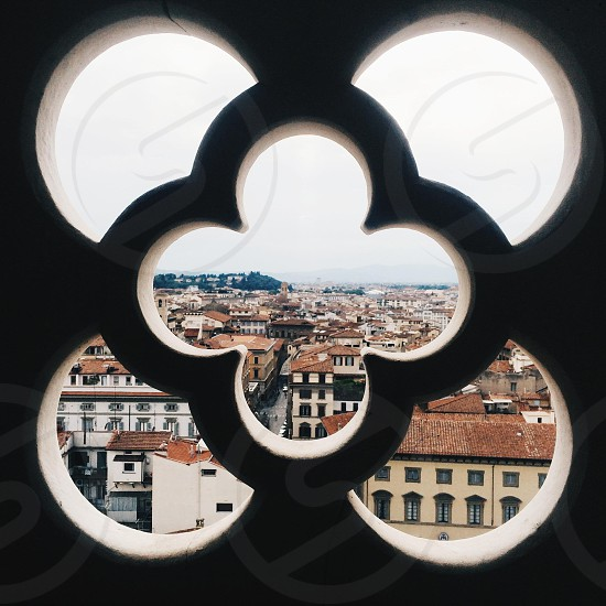 clover shaped opening in wall photo