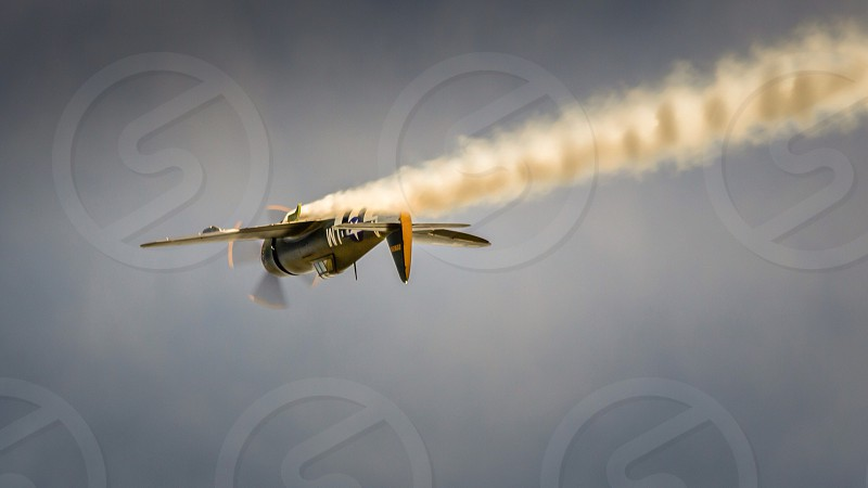 P47 Thunderbolt warplane vintage nostalgia flight old ww2 aeroplane world war 2 photo