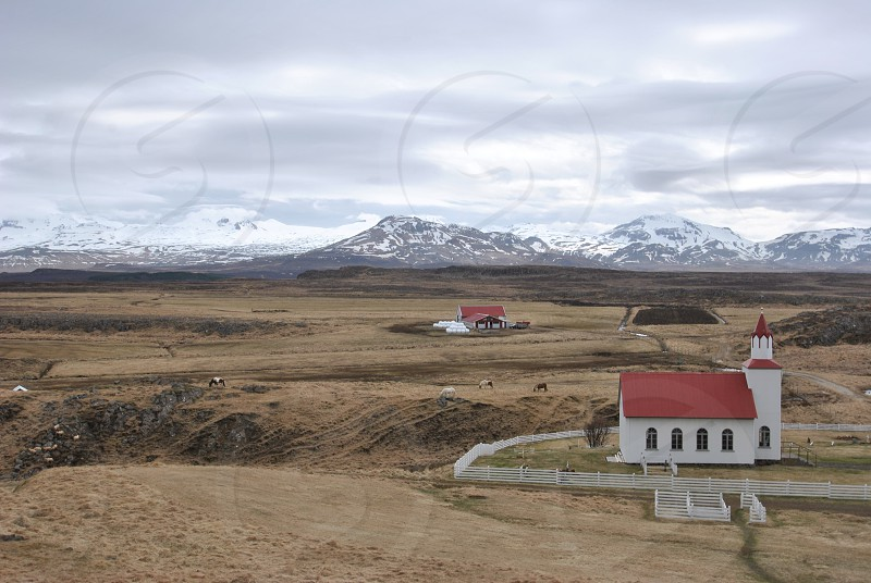 countryside in Western Iceland photo