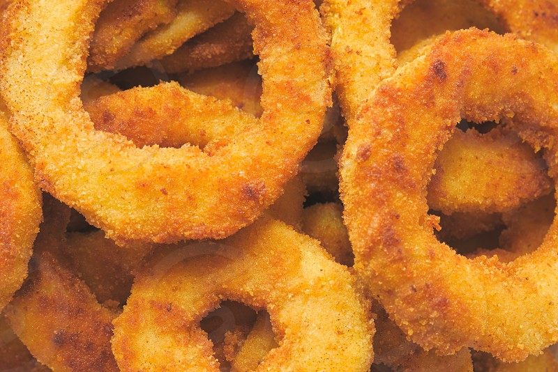 Heap of Delicious Fried Breaded Zucchini Rings photo