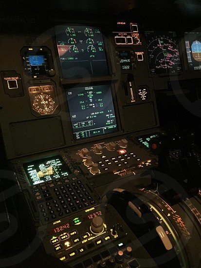 photography of aircraft dashboard photo