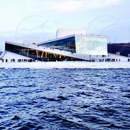 The opera building in Oslo Norway photo