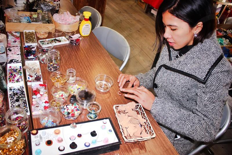 Craftsman woman making creative creativity  photo