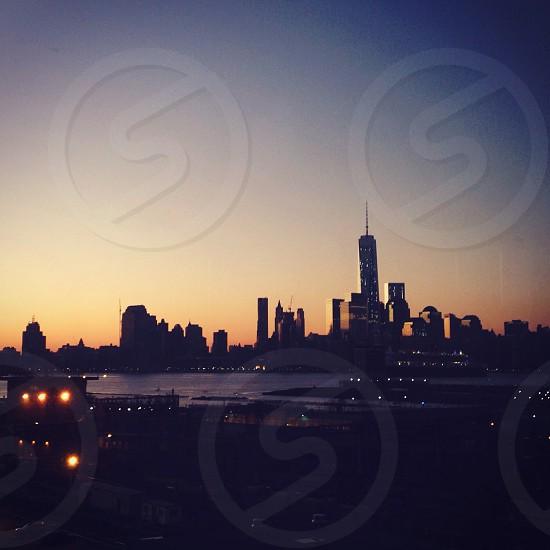 Sunrise over Manhattan from Hoboken photo