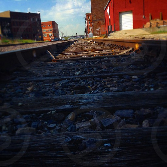 Railroad track.  (West Bottoms of Downtown) photo