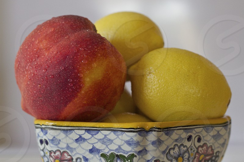 Lemons Peach Stand out photo