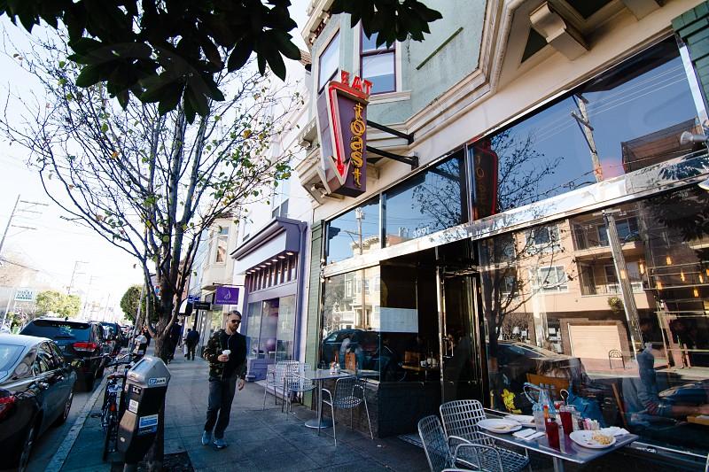 Restaurant and street scene in Noe Valley photo