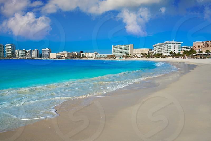 Cancun Forum beach Playa Gaviota Azul in Mexico at Hotel Zone photo