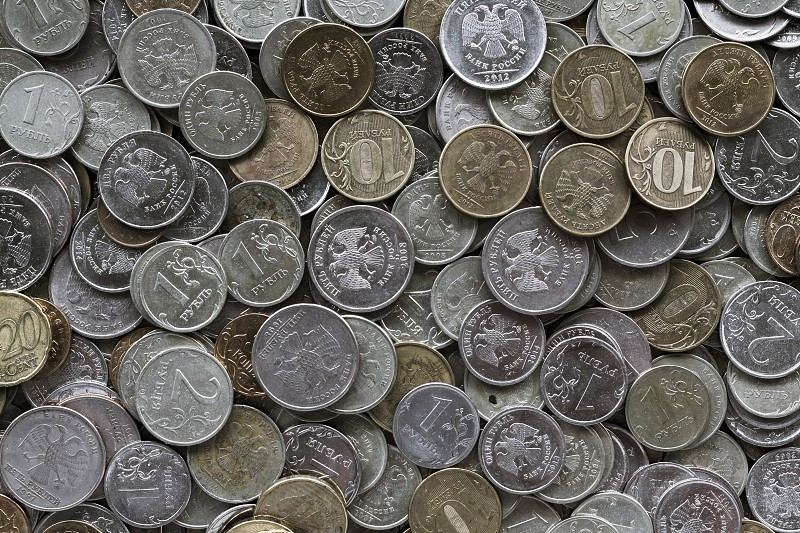 Pattern / Coins / Russian Roubles photo