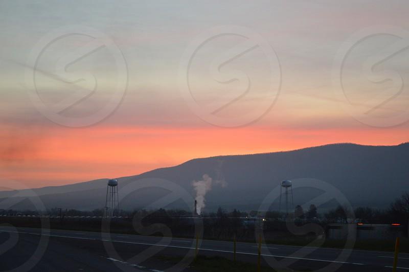 Blue Ridge sunset photo