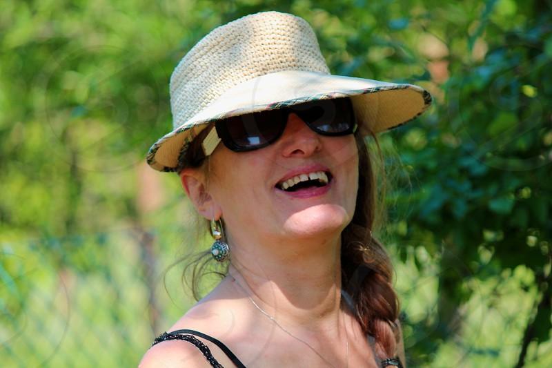 portrait smiling woman photo