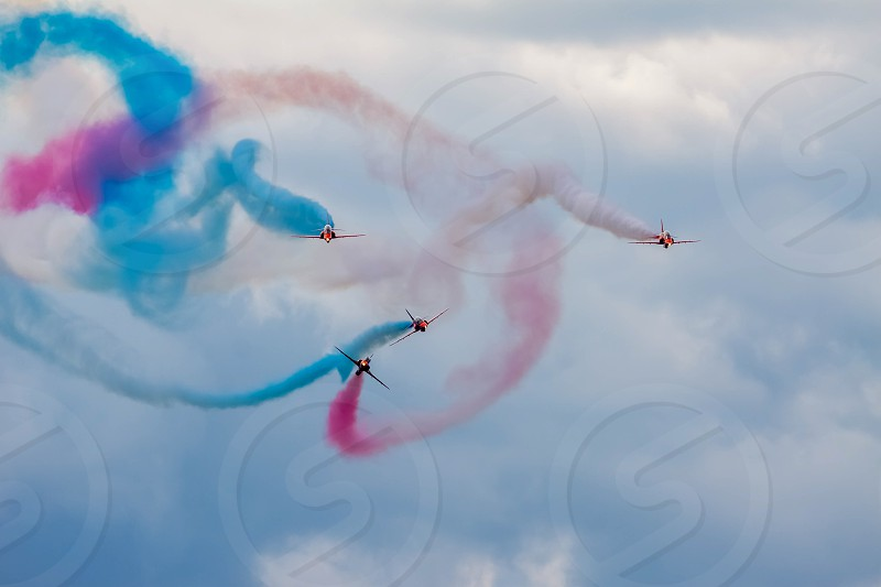 Red Arrows Aerial Display at Biggin Hill Airshow photo