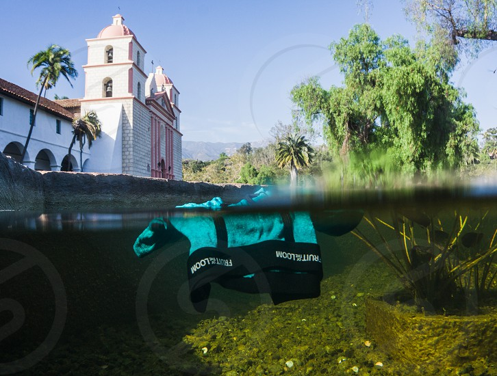 santa barbara mission california underwear photo