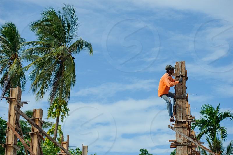 Thai style construction. photo