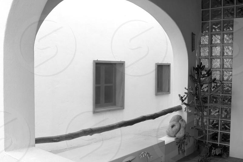 white house arch detail mediterranean architecture Formentera Balearic photo