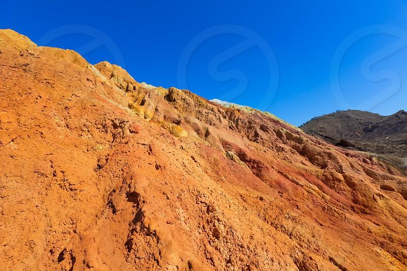 Mazarron Murcia old mine mountains in Spain photo