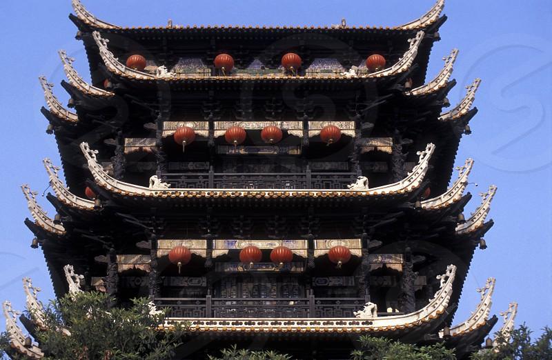 Ein Tempel in der Stadt Ychang in der Provinz Hubei in Zentral China 1999. photo