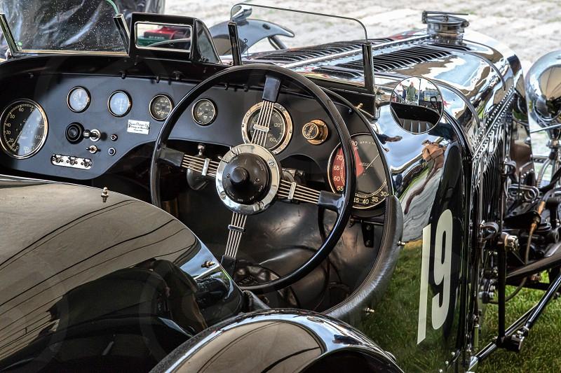 Cockpit of Old Vintage Car photo