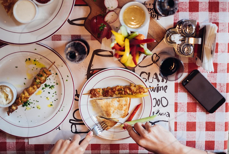 Colorful breakfast  photo