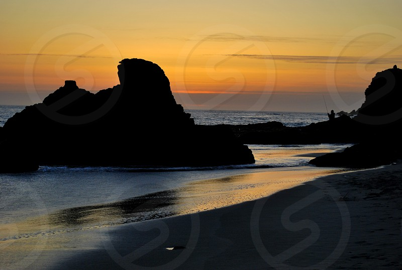 Big Sur - bathed in the hues of sunset  photo