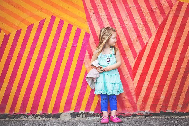 girl graffiti lovey girl looking away little girl child photo