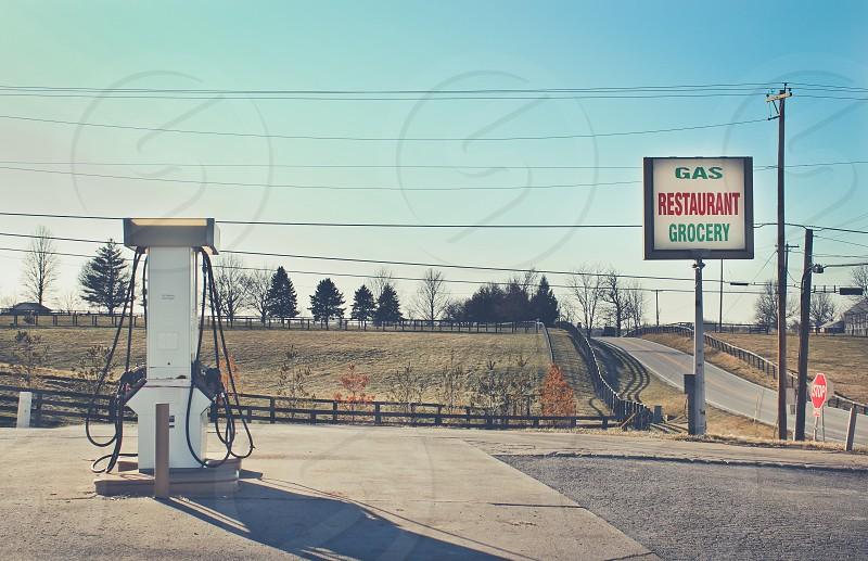 white gas pump photo