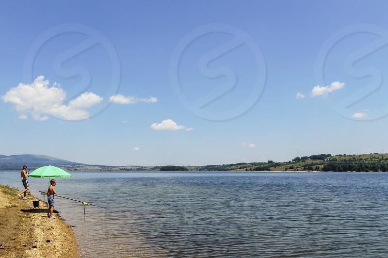 Fishing at Vlasina Lake Serbia Europe photo