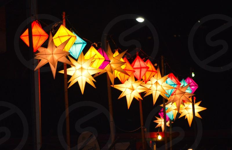 Lanterns. Winter Solstice. Colour. photo
