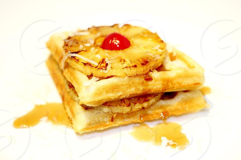 Hawaiian waffle photo