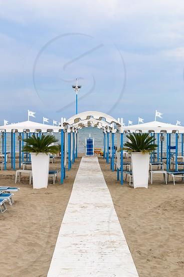 Empty beach Italy Riccione photo
