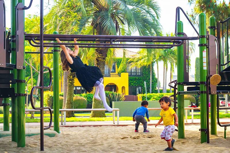 Creative, child, playground, funny, monkey bars, by Jeff Beeson. Photo  stock - Snapwire