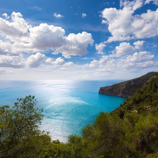 Javea La Granadella castle mirador Mediterranean view in Xabia Alicante Spain photo