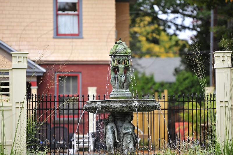 Fountain in yard photo