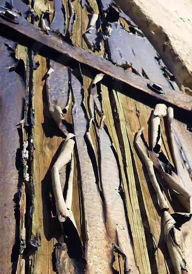 Door paint peeling old rust  photo