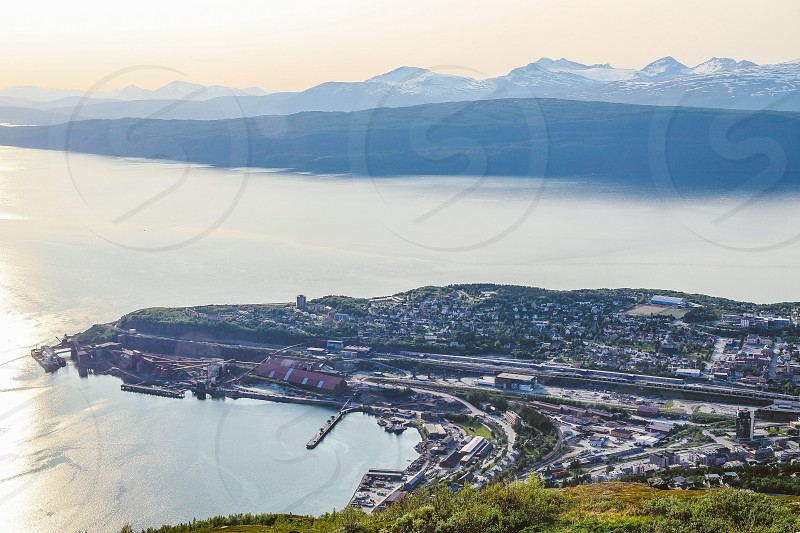 Narvik Norway  north north Norway industry LKAB mine mining industrial  shipping photo