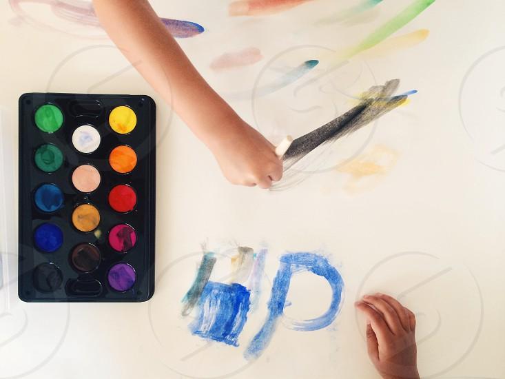 child painting photo