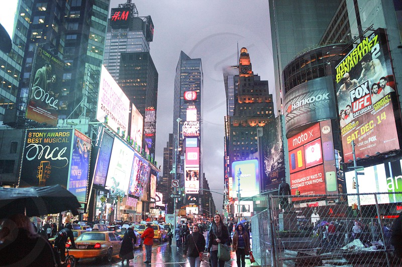 Time Square at Christmas time photo
