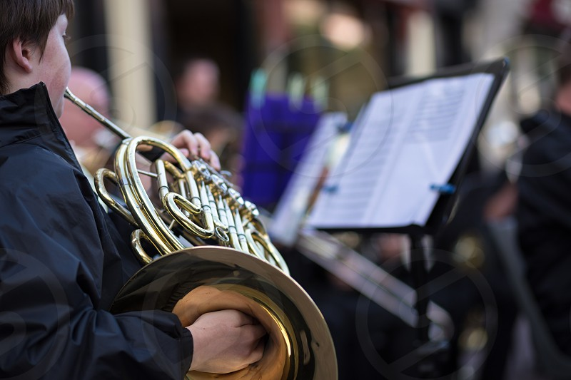 brass french horn photo