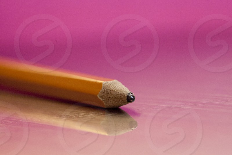 Pink pencil lead office supplies school supplies writing utensil graphite photo