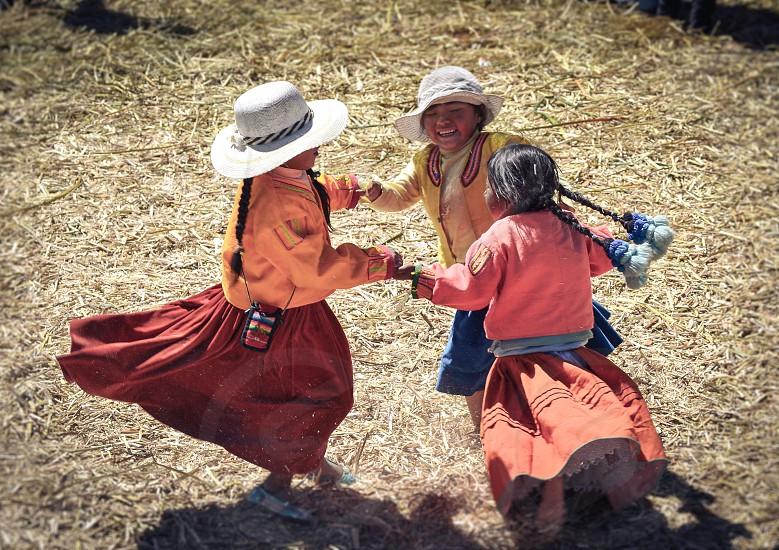 Children playing in Peru South America photo
