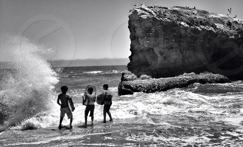 3 boys on sea photography  photo